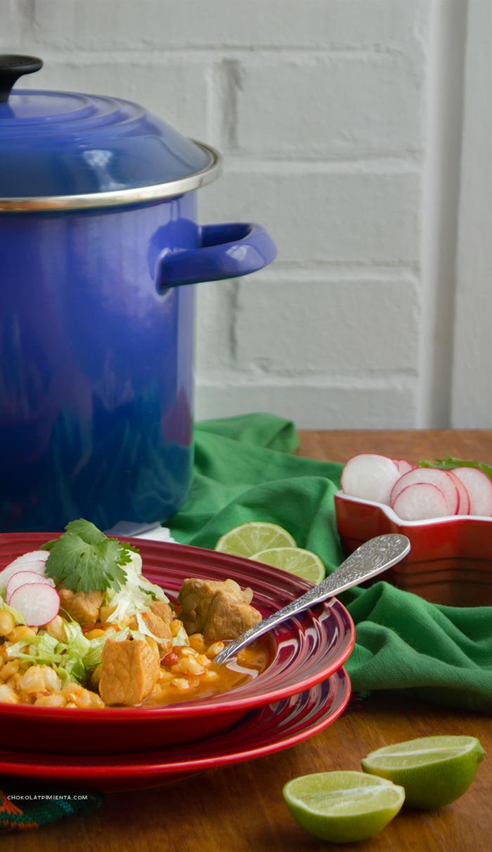 Pozole Rojo, receta Mexicana