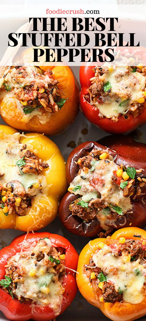 The Best and Easy Stuffed Bell Peppers Recipe With Ground Beef
