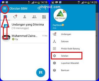 Cara Logout BBM di iPhone dan Android