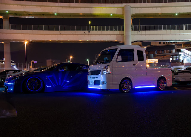 Liberty Walk R35 GTR and Kei Truck
