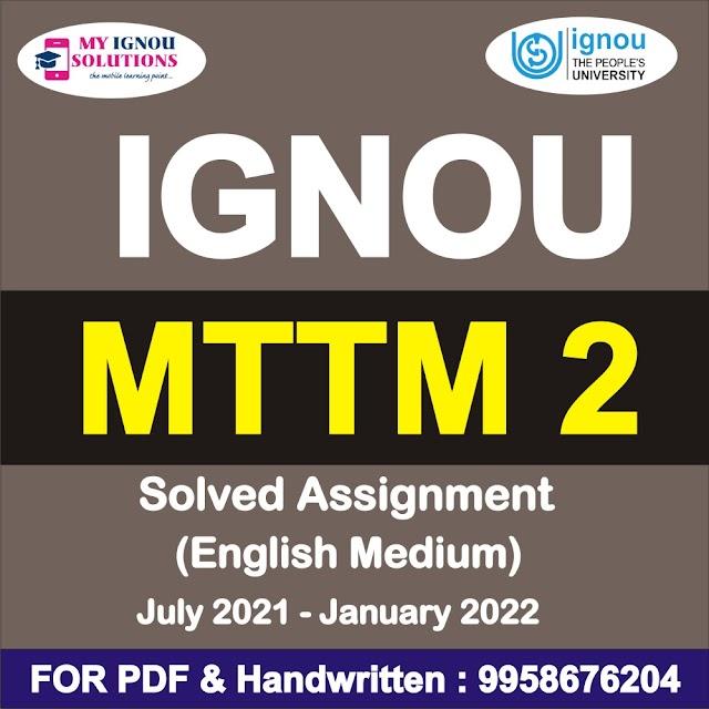 MTTM 2 Solved Assignment 2021-22