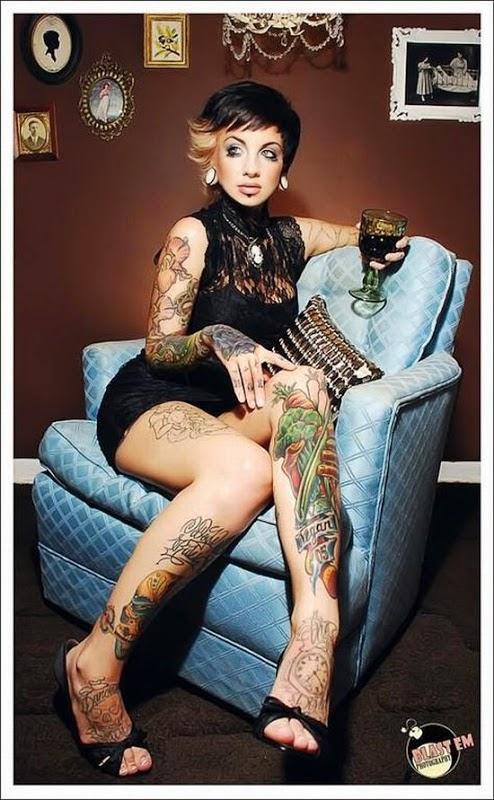 Very beautiful tattoos on women