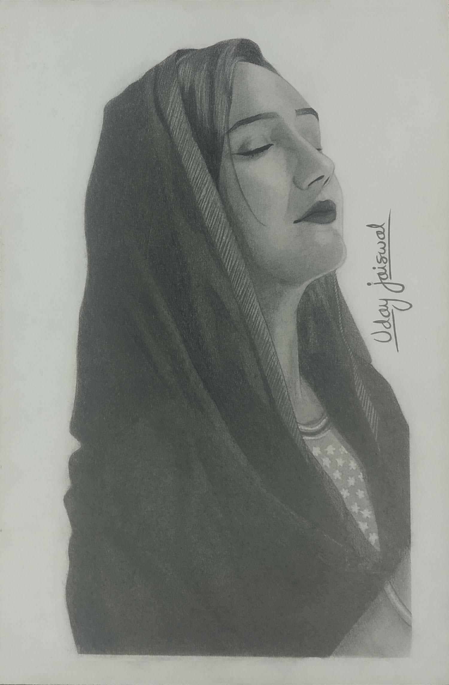Ms. Ashnoor Kaur Praying