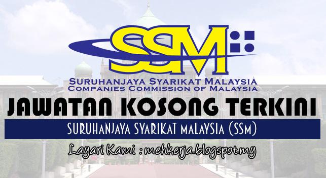 Jawatan Kosong Terkini 2017 di Suruhanjaya Syarikat Malaysia (SSM)