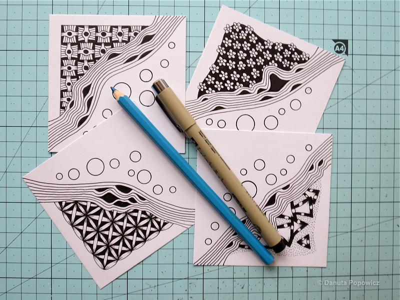 Jak zrobić mozaikę w stylu Zentangle