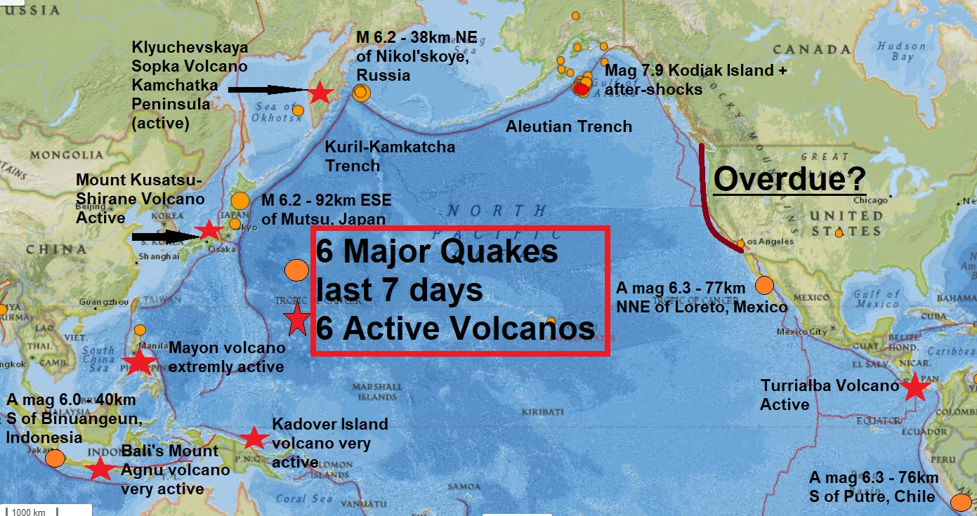 The big wobble a mag 62 russia rocks the pacific ring again a mag 62 russia rocks the pacific ring again its now 6 major quakes and 6 extremely active volcanoes in the last 7 days disaster imminent gumiabroncs Image collections