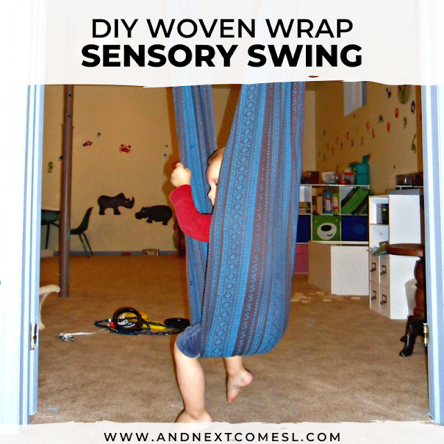 How to make a swing using a woven wrap baby carrier