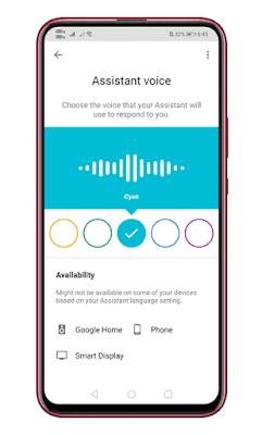 Pilih Versi Suara Voice Google Assistant di Android