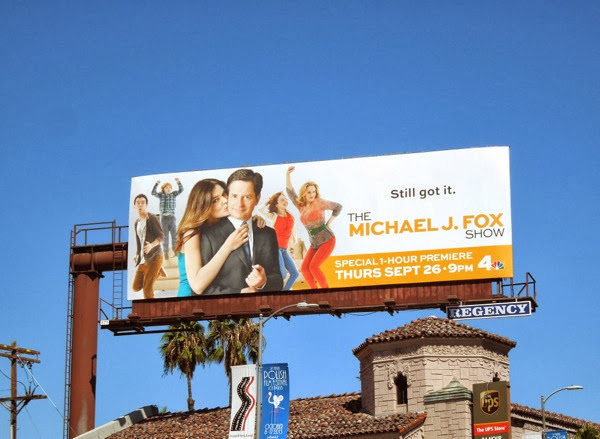 Michael J Fox Show series premiere billboard