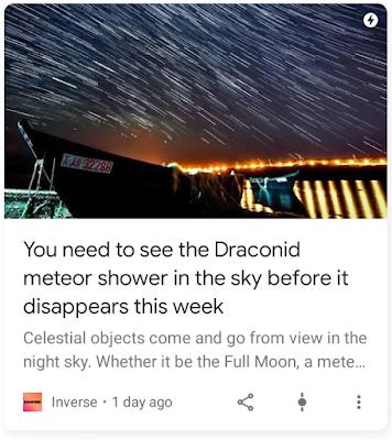 news item on meteors