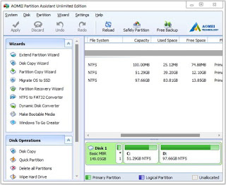 AOMEI Partition Assistant All Editions 6.5.0 DC 04.09.2017 Multilingual Full Keygen