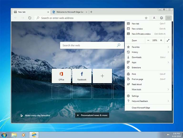 Cara Download Dan Pasang Browser Microsoft Edge Pada Windows 7