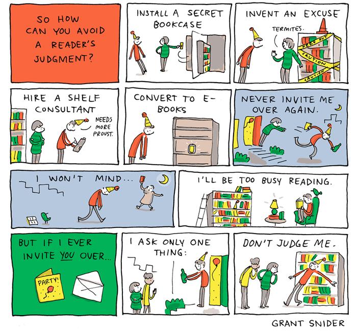 Other People's Bookshelves - Comic von Grant Snider