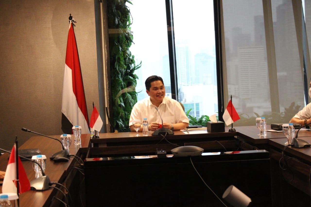 PemProvinsi Lampung menerima bantuan dari Kementerian BUMN