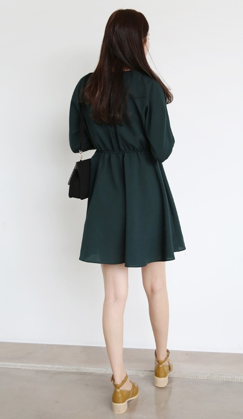 Belted Lapel Dress
