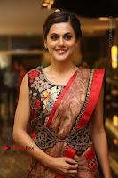 Tapsee Pannu Latest Stills in Red Silk Saree at Anando hma Pre Release Event .COM 0058.JPG