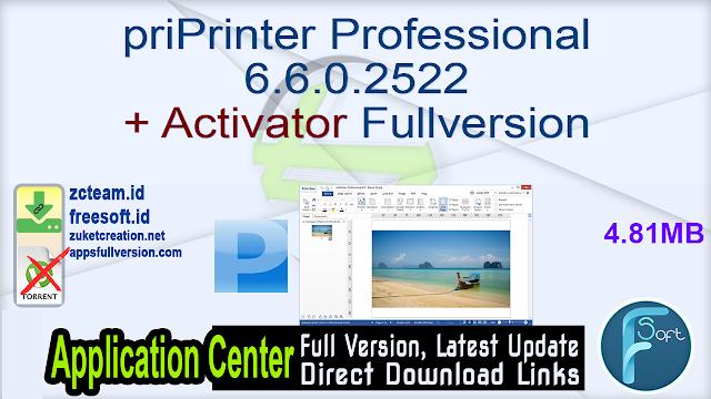 priPrinter Professional 6.6.0.2522 + Activator Fullversion
