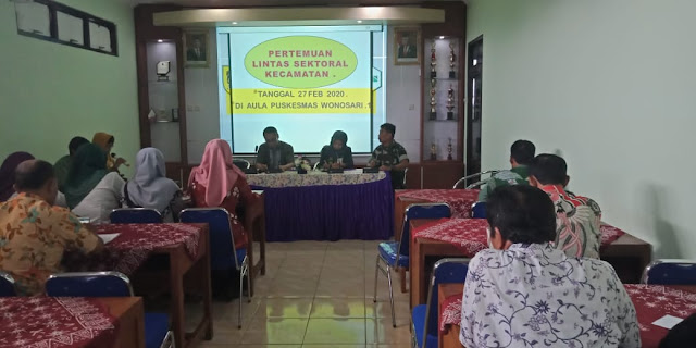 Rapat Lintas Sektoral Kecamatan Wonosari dilaksanakan di Puskesmas