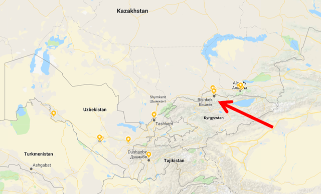 This is where Bishkek is located