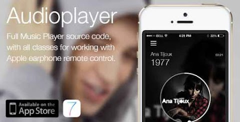 Audioplayer. (Works with apple earphone remote)