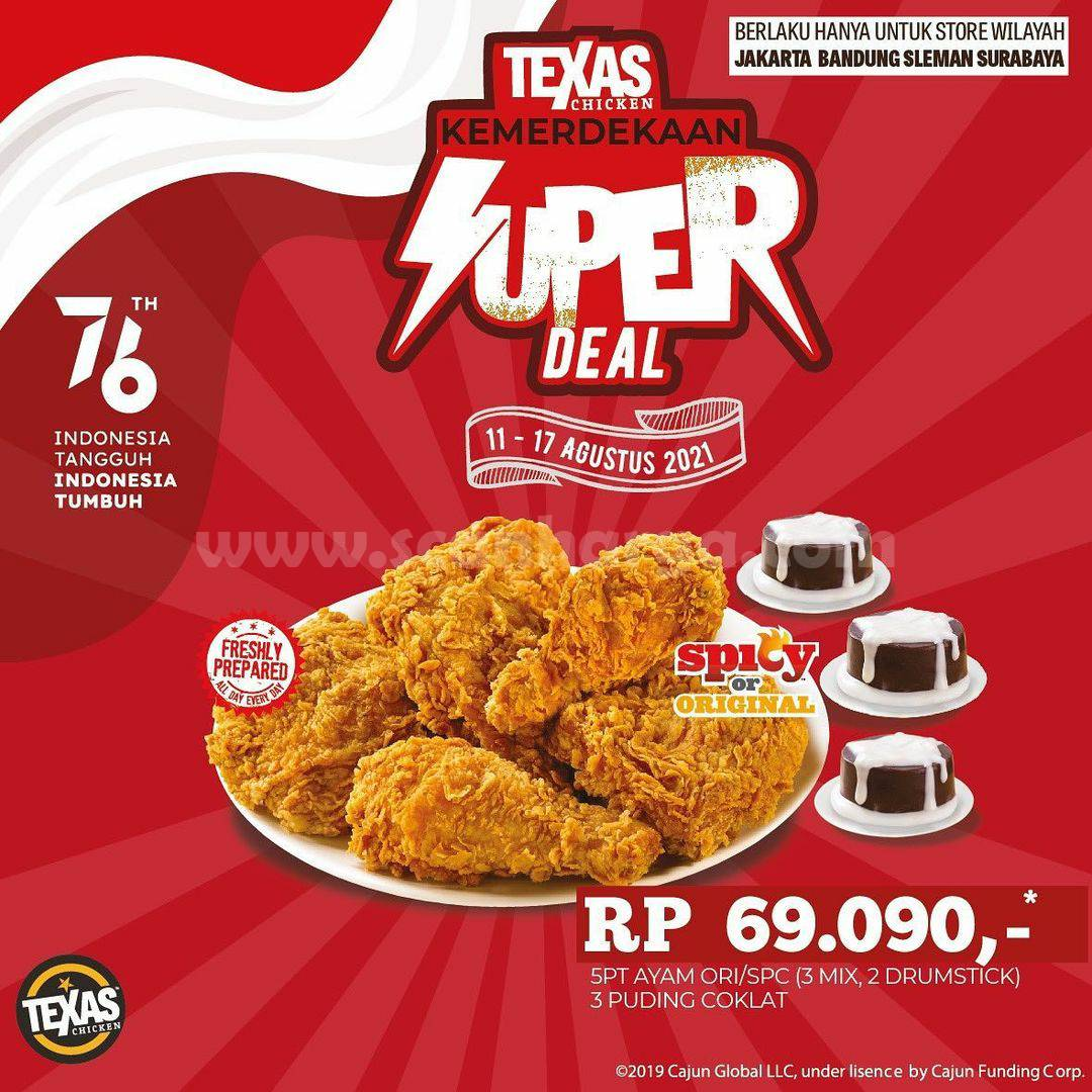 Texas Chicken Promo Super Deal - Paket Merdeka harga cuma Rp. 69.090