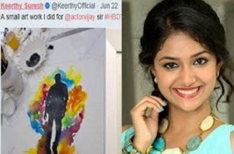 Vijay's Bday Gift From Keerthi Suresh Is Quite Different   Keerthy Suresh Is An Artist   Mersal Gift