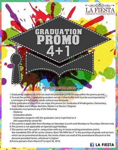 la-fiesta filipino-buffet price graduation free buffet promo 2016