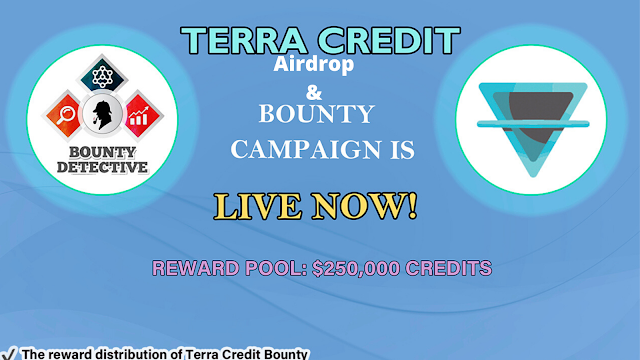 with TerraCredit airdrop and bounty campaigns