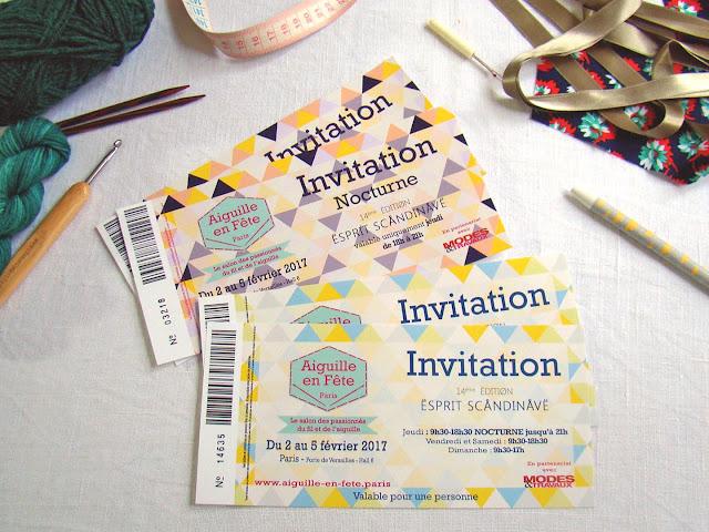 invitations pour salon l'Aiguille en fête 2017