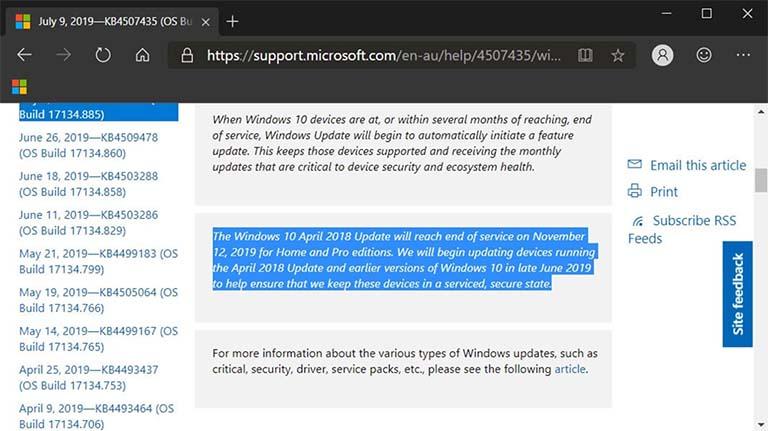 Windows Update Memberitahu Pengguna Jika Dukungan Akan Berakhir