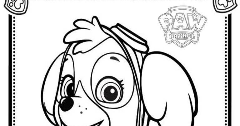 Skye Paw Patrol Coloring Pages : Paw patrol coloring pages skye realistic