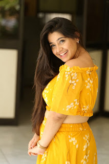 Chandni Bhagwanani Pics in Yellow Dress