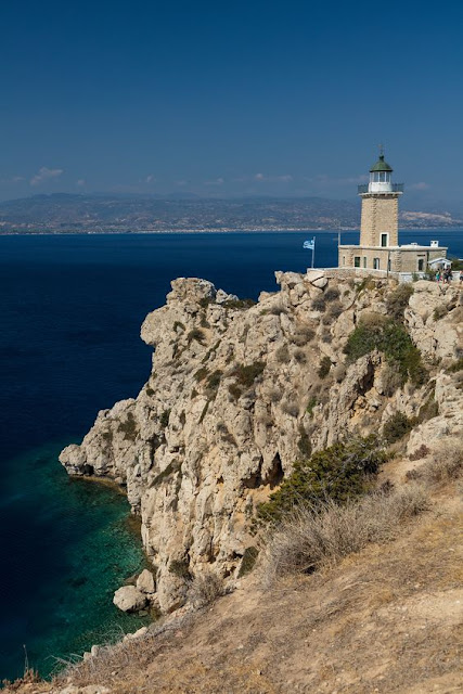 Melagavi Lighthouse Heraion Loutraki Greece Photo by Greeker than the Greeks