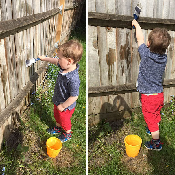 18 Hilarious Hacks Prove That Some Parents Are Geniuses - How To Keep Your Child Busy Without Having Them Make A Mess