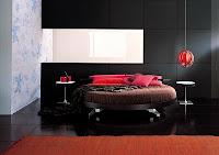 Habitación con cama redonda