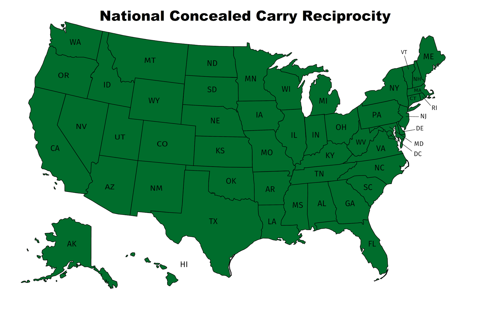 states with concealed carry reciprocity with north carolina