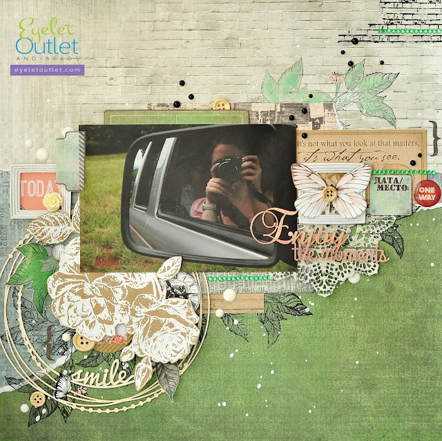 Enjoy the moments | Eyelet Outlet DT @akonitt #by_marina_gridasova #eyeletoutlet #scrapberry's #scrapberrys #layout #scrapbooking
