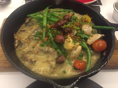 Sizzling sinigang at Locavore Three Central