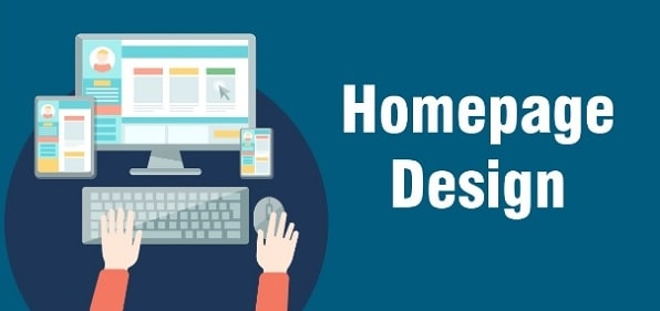 how to create website homepage design web designer