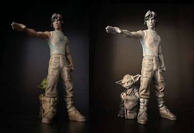 Star Wars Luke Skywalker with Yoda Resin Figure by WheresChappell x Mahalo Cabin