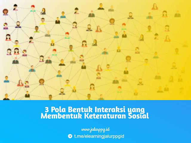 3 Pola Bentuk Interaksi yang Membentuk Keteraturan Sosial