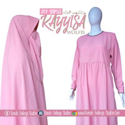 Set Gamis Babydoll Kayyisa Pink Kalem