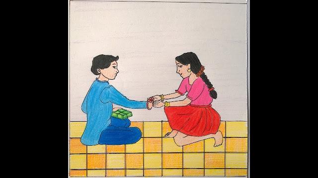 raksha bandhan drawing