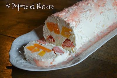 Bûche glacée clémentine et mangue © Popote et Nature