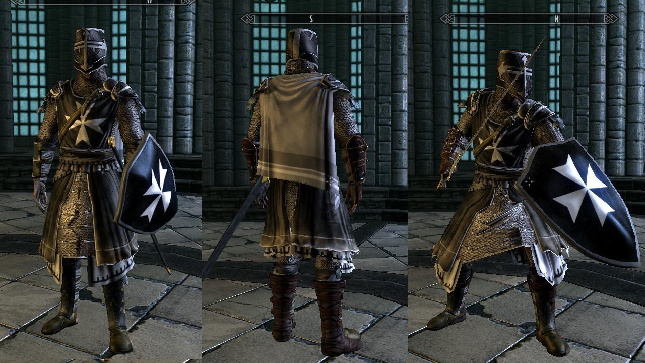 My Skyrim Mods Knights Hospitaller Armor Retexture Assassin S