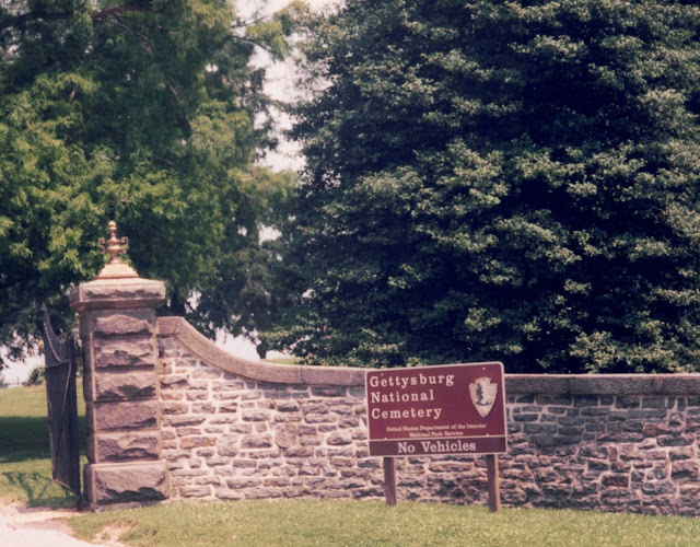 photograph of Gettysburg National Cemetery entrance