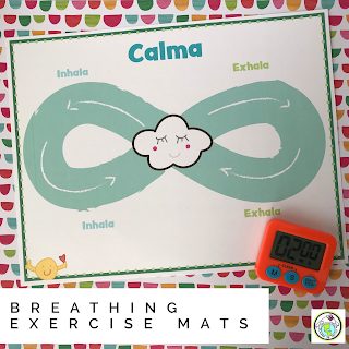 Breathing Exercise Mats for Mindfulness in World Language Class