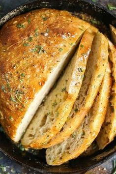 NO KNEAD ROSEMARY BREAD #recipes #baking #bakingrecipes #food #foodporn #healthy #yummy #instafood #foodie #delicious #dinner #breakfast #dessert #lunch #vegan #cake #eatclean #homemade #diet #healthyfood #cleaneating #foodstagram