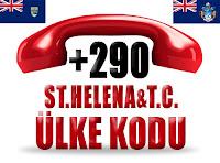 +290 Saint Helena ve Tristan da Cunha ülke telefon kodu