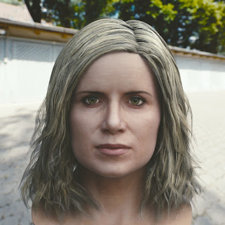 3d model Kim Dickens Madison Clark head